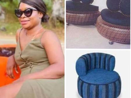 Meet The Talented CEO, Erica Who Makes Beautiful Furniture With Car Tires