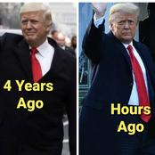 Checkout How Trump Arrived White House 4 Years Ago, And How He Left Hours Ago