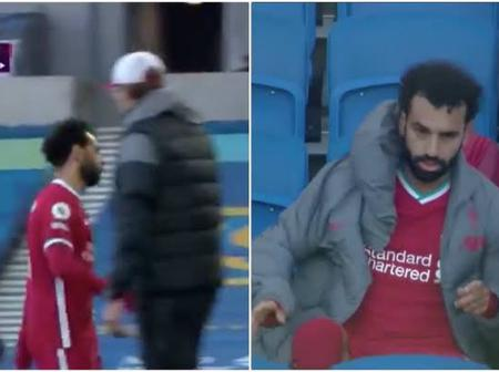 Is there more to this between Salah and Klopp? Furious Mohamed Salah blanks coach on the touchline.