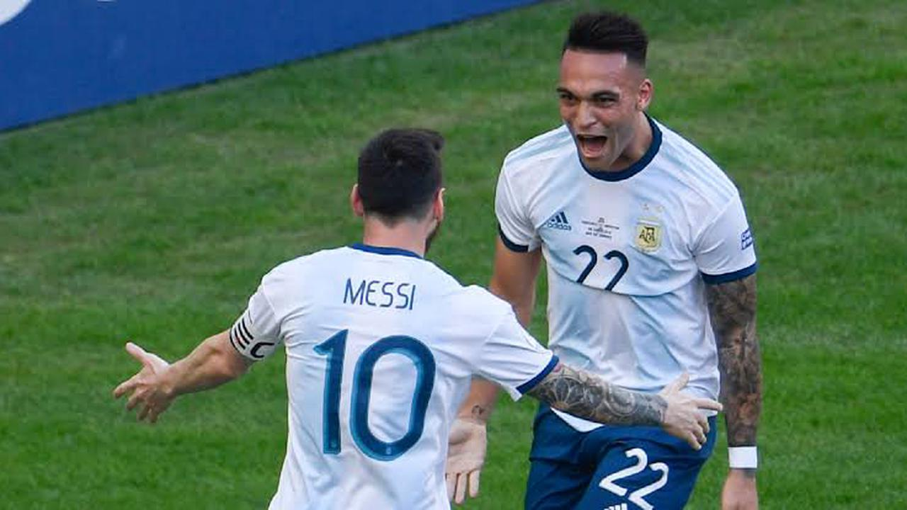 Lautaro Martinez of Inter Milan makes comments on Romelu Lukaku and Leo Messi