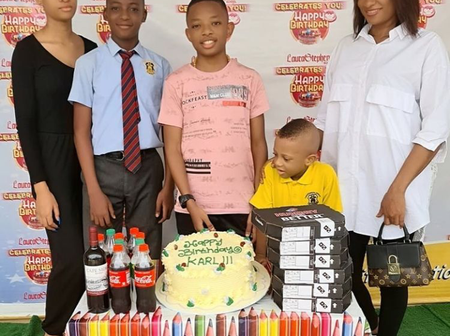 Actor Yul Edochie Celebrates His 2nd Son As He Turns 13 Today