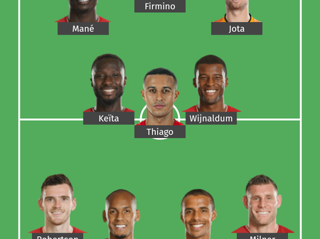 Liverpool Possible Line Up To Play Leicester City At Anfield