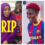 Nigerian And Barcelona Star, Oshoala Broke Down In Tears In A Video As She Revealed She Lost Her Mum
