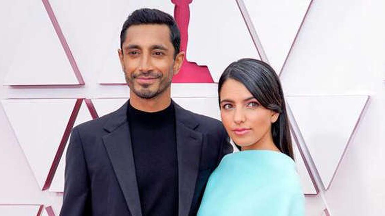 Riz Ahmed Shares Swoon-Worthy Moment With New Wife During Their Oscars Red Carpet Debut