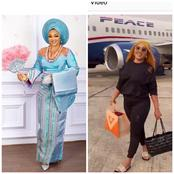 VIDEO: Popular Nollywood Actress Mercy Aigbe Arrives at Her Home Town in Edo State By Air (Photos)