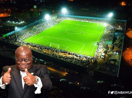 See The Newly Built Astro Turf Pitch In Zongo Community in Ghana by Nana Addo