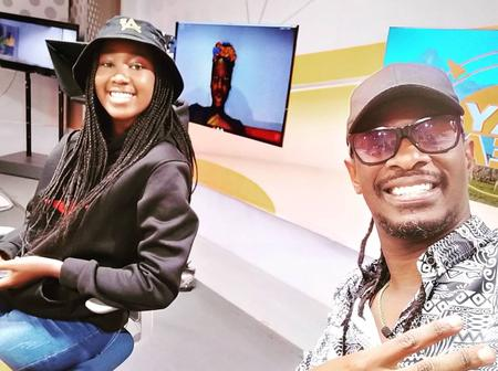 Singers Nameless and Wahu Congratulate Their Daughter on Her First TV Interview.