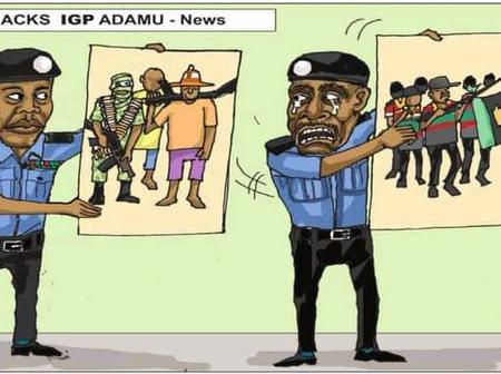 Cartoon About How IPOB Caused The Former IGP, Mohammed Adamu, To Be Sacked Sparked Reactions