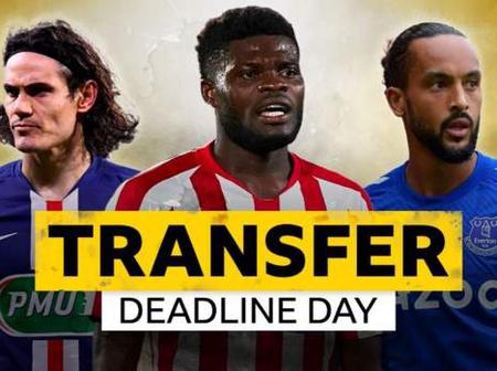 From Cavani, Partey To Telles: See Details Of 12 Hot Deadline-Day Deals In EPL (Photos)