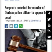 Two suspect was arrested for killing a policeman by stabbing him.