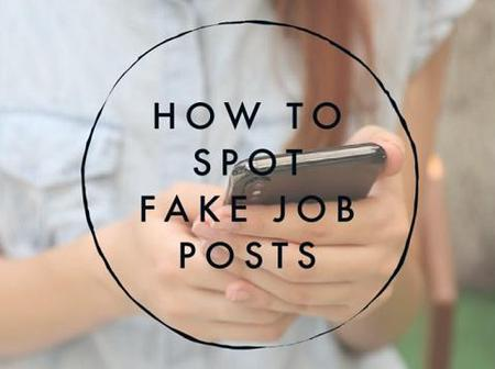 How to Spot A Fake Job