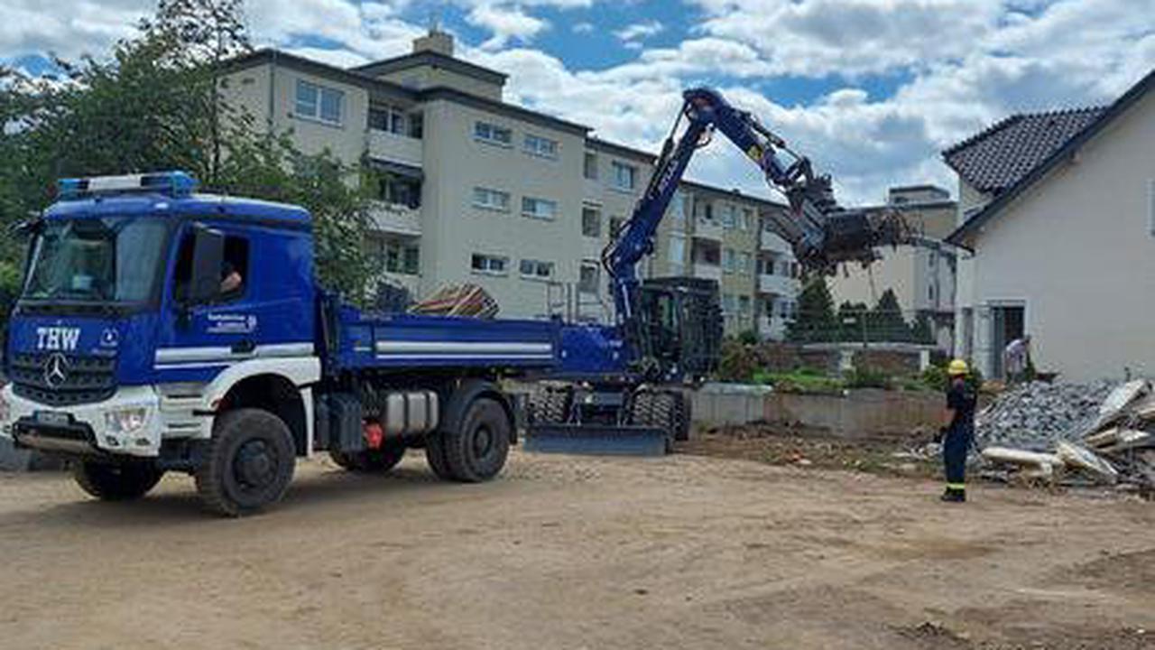 Katastrophen-Einsatz THW kämpft gegen Hochwasserschäden