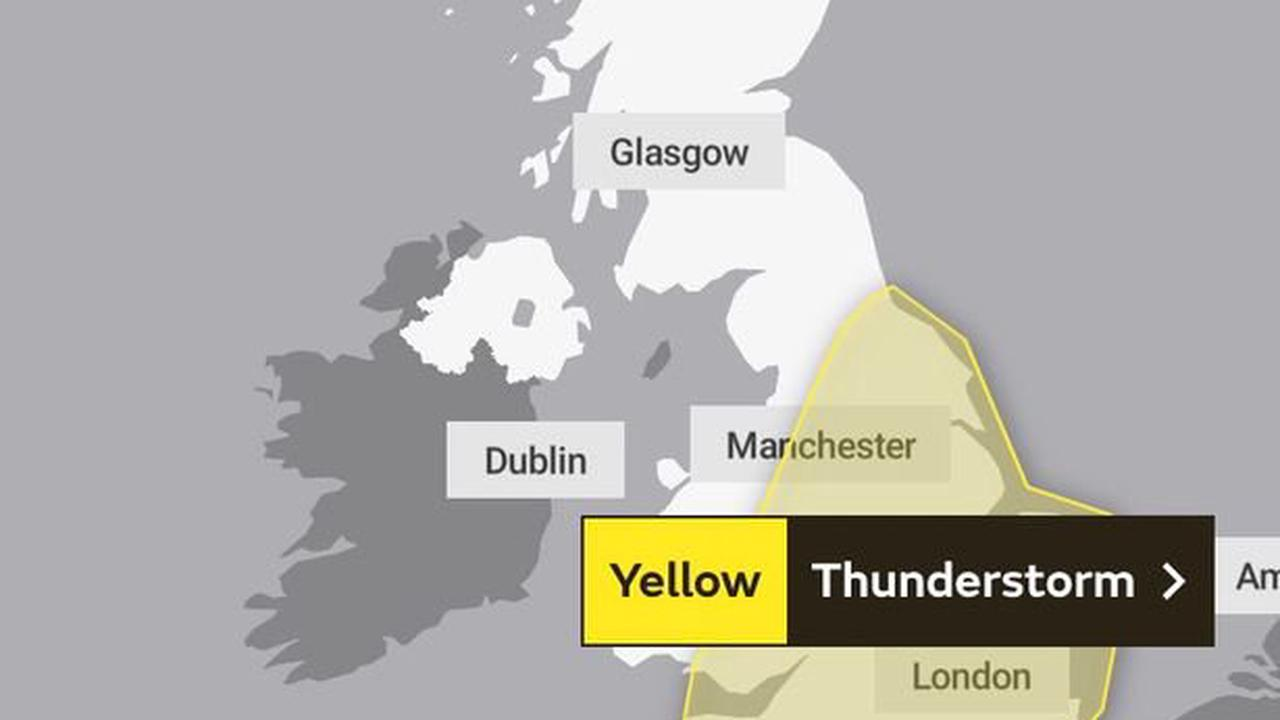 Met Office issues storm warnings for lightning and hail this week after heatwave