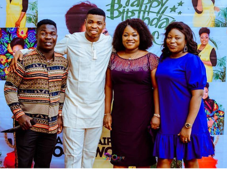 Photos of Woli Agba, Dele, their wives and sons