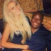 Old picture of Julius Malema with a white lady resurfaces and causes havoc on Twitter.