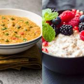 Vegetable Oats Versus Milky Oats: What's Better For Weight Loss?
