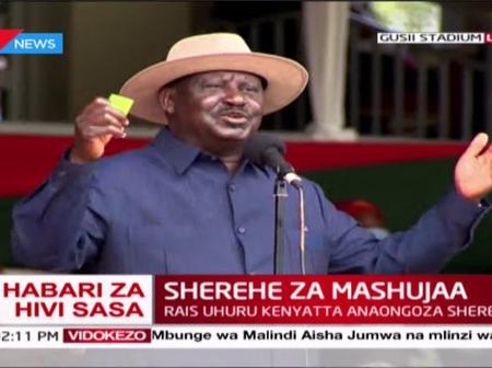 Raila Announces Where