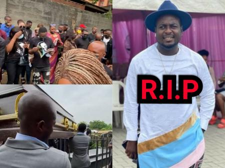 Burial Photos Of The Popular Nigerian Comedian, Calibird Who Died After Brief Illness 2 Weeks Ago