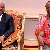 Zuma crossed the border into Swaziland