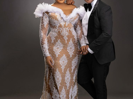 Omotola Shares Lovely Photos of Herself With Her Husband As They Celebrate 25th Wedding Anniversary