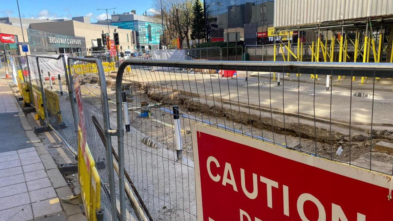 Bradford drivers diverted by urgent gas works on grand re-opening day