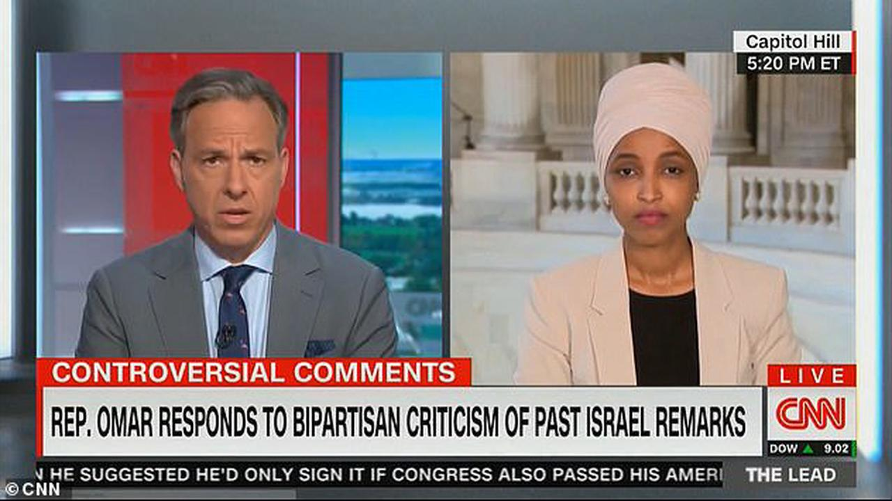 Rep. Ilhan Omar said Tuesday that her Jewish colleagues 'haven't been equal partners and justice'