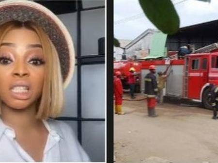 Toke Makinwa expresses shock, narrates her experience with The Federal Fire Service