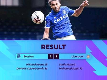 Fulltime at Goodison_park, Everton 2- Liverpool 2