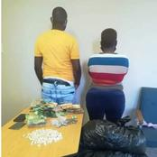 SA in sh0ck after a lady was arrested alongside hubby for drug biz during a raid