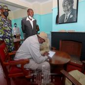 President Uhuru Kenyatta Paid A Visit To The Historic Kenyatta House Where His Father Was Detained