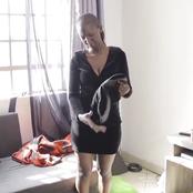 Hilarious! Mammito Demonstates The Struggle  Women Wearing Backside Enhancers Go Through On Rainy Days