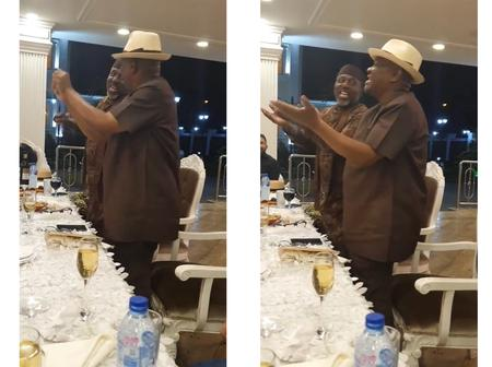 """Governor Wike & Rochas Okorocha Spark Reactions With Their """"Funny"""" Dance  In Rivers State"""