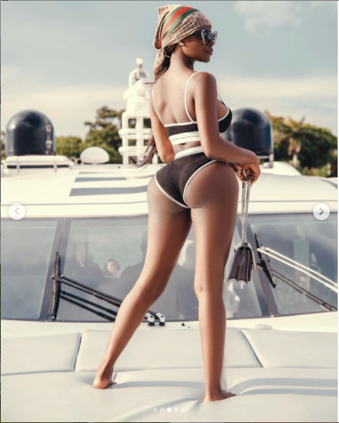 Reality star, Khloe flaunts her banging body as she poses on a Yacht (Photos)