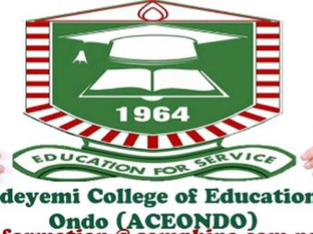 Adeyemi College Of Education Offers Admission Into Pre-Degree/NCE Programmes For 2020/2021 Session