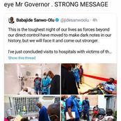 Davido Replies Governor Sanwo-Olu On Twitter - See Fans' Reactions (Photos)
