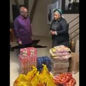 Is Zuma in need of food donations? Dudu Mayeni donates food parcels to Nkandla.
