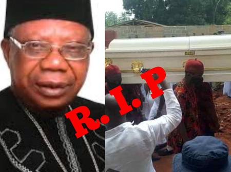 Tears As Popular Highlife Musician, Chief Morocco Was Laid To Rest In His Hometown