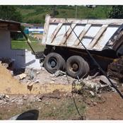 Truck Kills 13 people as it Plunges through a School wall.