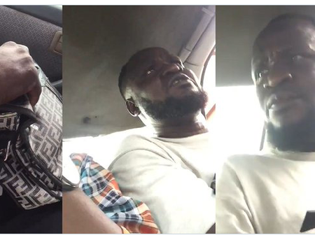 Man Claims He Is A Police As He Beats A Lady After She Caught Him Stimulating Himself In A Bus (Video)