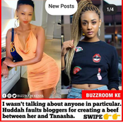 Huddah Confirms She Was Not Speaking Ill Of Donna And The Bloggers Are The Ones To Blame.