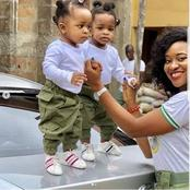 Adorable photos of Nigerian Mothers Slaying in Their Nysc Uniforms with their Children