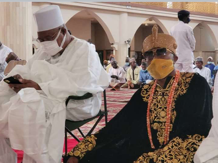 Check Out Who Oluwo Was Spotted With Today During The Friday's Jumaat Prayers In Sokoto (Photos)
