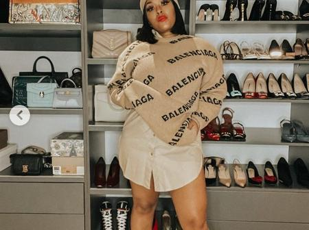 Teko Modise's wife shows off her expensive closet.