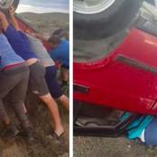 13-Year-Old Football Players Lift Enormous Flipped Car To Free The Woman Trapped Underneath