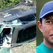 See How Wrecked Tiger Wood Car Looks During His Ghastly Accident (video)