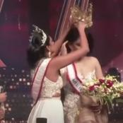 Beauty pageant winner injured after rival rips crown from her head