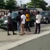 Trouble In Lagos As Area Boys Refuses To Collect 2000 Naira Bribe From Army Who Wanted To Pass