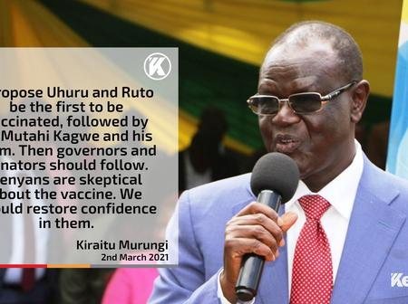 Kiraitu Spells Out His Belief On Who To First Take The Covid-19 Vaccine