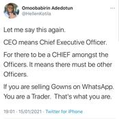You Are Not CEO, You Are A Trader- Twitter User Complains About Online Sellers Misusing The Word
