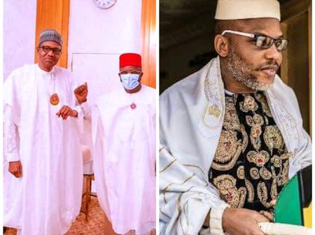 Hours After Buhari Hosted Gov. Umahi, See What Nnamdi Kanu Thinks About Southern Presidency Ambition